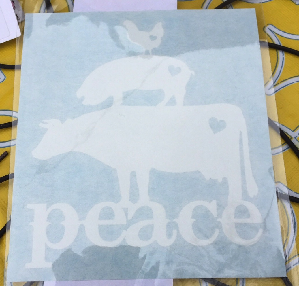 Peace Car Decal (White)